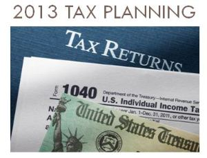 A Good Time For Tax Planning