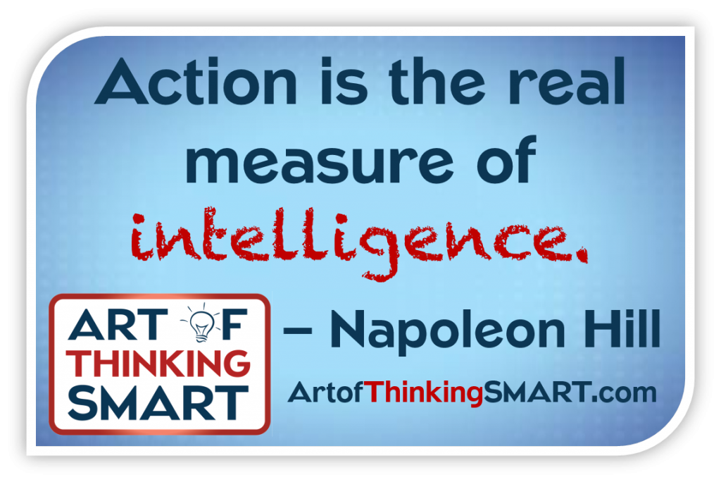 Napoleon Hill Action Quote