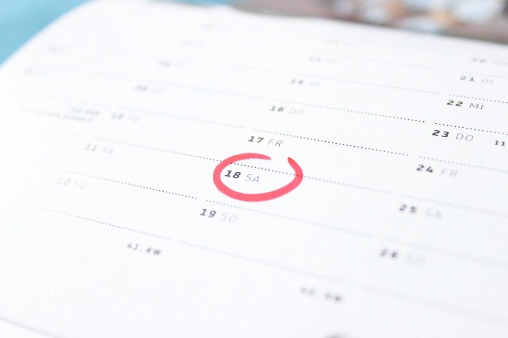 Calendar week number